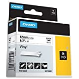 "Dymo Corporation Label, Vinyl, Industrial, 3/8""X18', White"