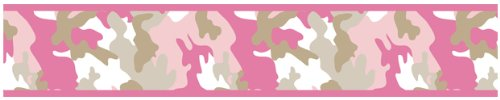 Pink Camouflage Bedding 6814 front