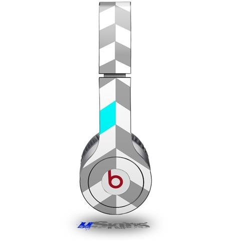 Chevrons Gray And Aqua Decal Style Skin (Fits Beats Solo Hd Headphones - Headphones Not Included)