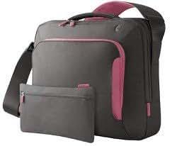 Belkin F8N076-SGF-DL 15-Inch Energy Collection Messenger Bag (Gray/Flamingo Pink)