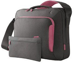 Belkin F8N076-SGF-DL 15-Inch Energy Collection Messenger Bag (Gray/Flamingo Pink)