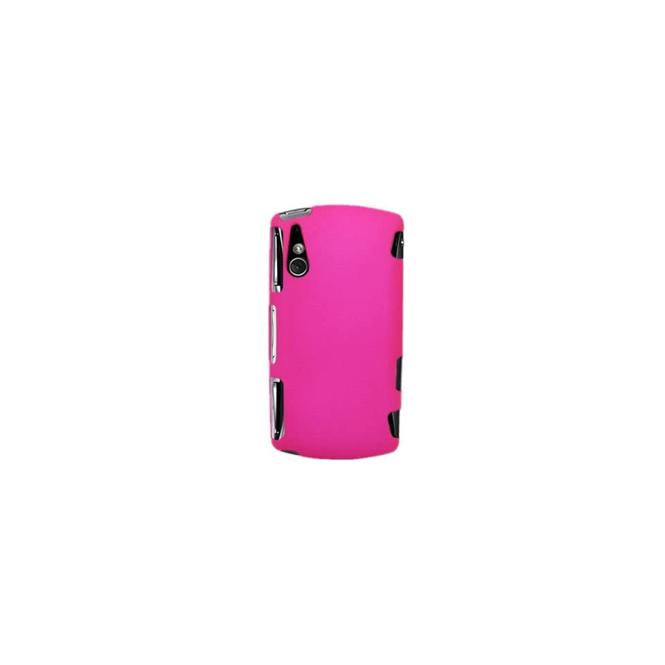 Snap on Shield PINK RUBBERIZED Faceplate Cover Sleeve Case for SONY