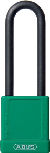 ABUS 74HB/40-75 KD Loto Non-Conductive 3-Inch Shackle, Green abus 74hb 40 75 mk loto non conductive 3 inch shackle purple