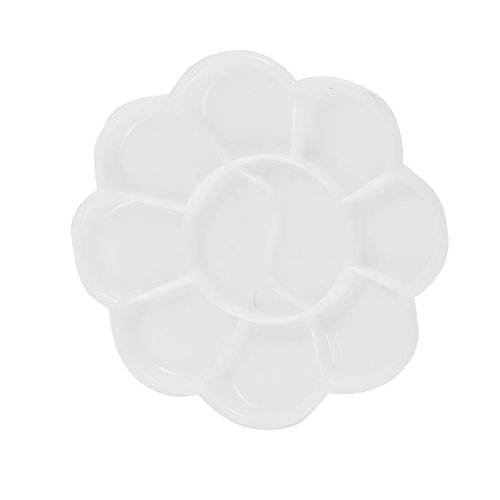 Amico Flower Shaped 10 Compartment White Plastic Paint Tray Mixing Palette