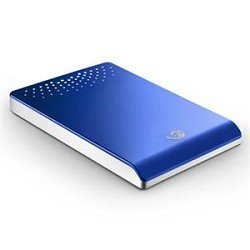 Seagate FreeAgent Go 500 GB USB 2.0 Portable External Hard Drive ST905003FBA2E1-RK (Blue)