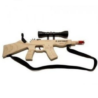 Magnum Rubberband Gun Jr. AK 47 Combat Rifle