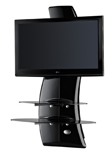 """Ollo Meliconi Ghost Design 2000 Tv Wall Fixture For 32"""" To 63"""" Screens Up To 154Lbs, Gloss Black"""