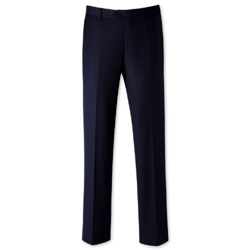Charles Tyrwhitt Navy twill tailored fit suit trouser (36W x 38L Unfinished)