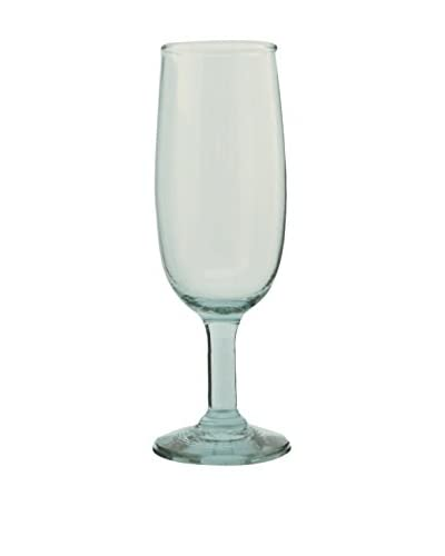 Be Home Set of 4 Recycled Glass 8-Oz. Champagne Flutes, Clear