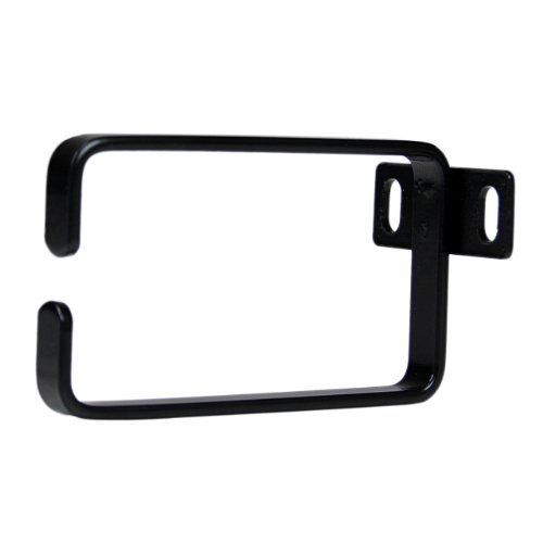 Startech.Com 1U Vertical Server Rack Cable Management D-Ring Hook - 2.2X3.9In (5.7X10Cm) Rack Cable Organizer - Rackmount Cable Ring Components, Black (Cmhook1U) front-803752