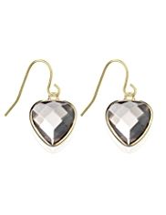 Autograph Heart Drop Earrings