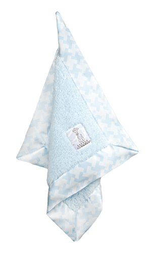 Little Giraffe Chenille Hounds Tooth Blanky, Blue