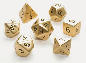 metal 7 piece dice set