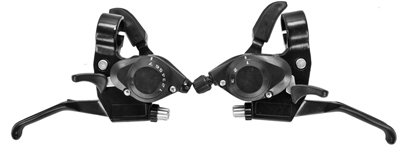 Buy Low Price Sunlite ATB Shift/Brake Lever Set – 1 Pair, 3×7-speed, 2 to 1, Black (B003MNSGA8)