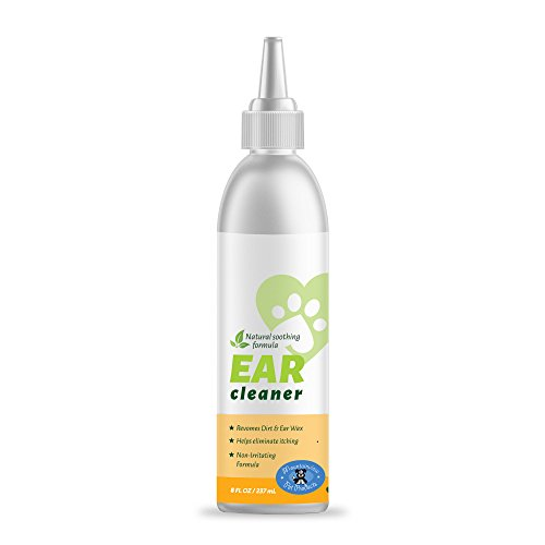 All Natural Ear Cleaner for Dogs or Cats with Easy Application Nozzle, Gently Removes Wax, Dirt and Odors (Dog Ear Wax Remover compare prices)