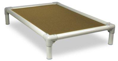 Kuranda Almond Pvc Chewproof Dog Bed - Xl (44X27) - Ballistic Nylon - Gold