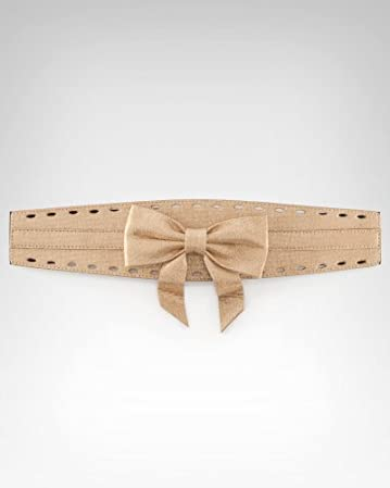 bebe Metallic Bow Belt091511-homepage3 from bebe.com
