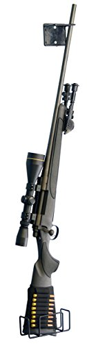 Boomstick Gun Accessories Boom-10022rastrelliera singola per tutti i tipi di fucile e pistola, in metallo rivestito in vinile, colore: nero
