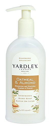Yardley Hand Soap, Luxurious, Soothing Oatmeal & Almond, 250ml