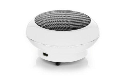 Cabstone SoundDisc (4,0 W Lautsprecher, Bassgehäuse, Lithium-Ionen-Akku bis 6 Stunden, 360° Klangfeld, AUX-In) weiß
