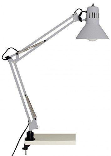Brilliant Hobby - Lampada da scrivania con morsetto, 10802 / 11, colore titanio