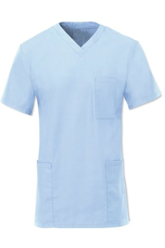 Alexandra - Top  uniforme sanitaria azzurro XL