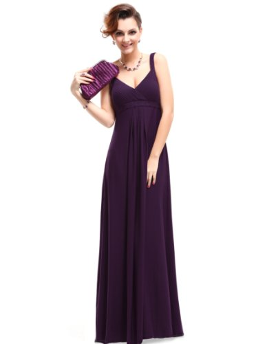 HE09102PP14, Purple, 12US, Ever Pretty Maxi Dresses For Women Party 09102
