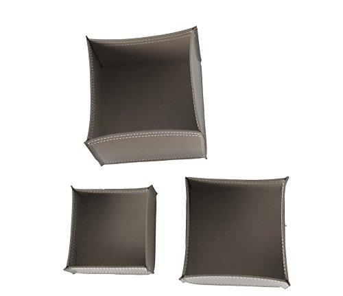 KOME 531: Set svuota tasche in cuoio rigenerato composto da 3 pezzi, colore Tortora.