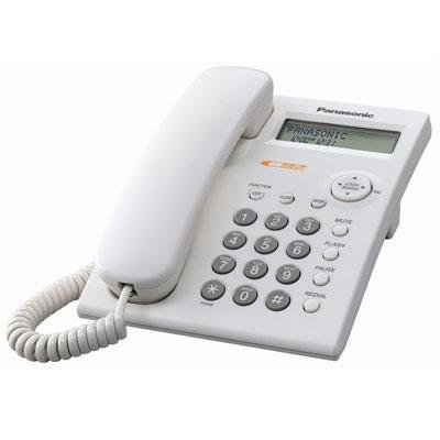 Panasonic KX-TSC11W Corded Phone with Caller ID, White