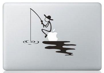 MacBook ステッカー シール Fishing Man [並行輸入品] (13インチ)