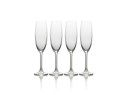 Mikasa-Julie-Flute-Drinking-Glass-Set-of-4-8-oz-Clear