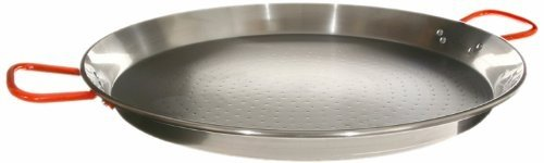 Garcima 22-Inch Carbon Steel Paella Pan, 55 cm 16 Servings