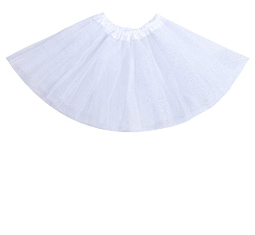 "Anleolife 12"" Girls Skirts Summer Skirt Party Skirts Bow Candy Tutu"