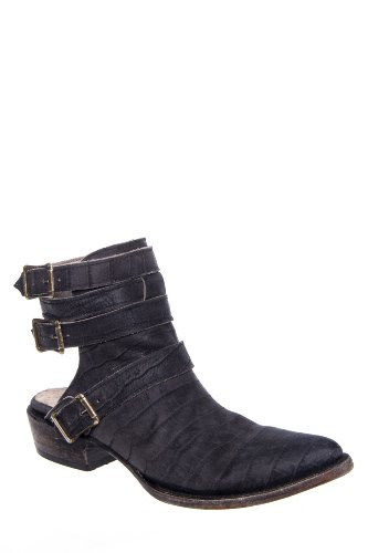 Freebird by Steven Lithium Exposed Heel Distressed Leather Bootie