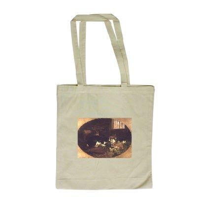 The Rabbit Hutch by John Frederick Herring.. - Long Handled Shopping Bag