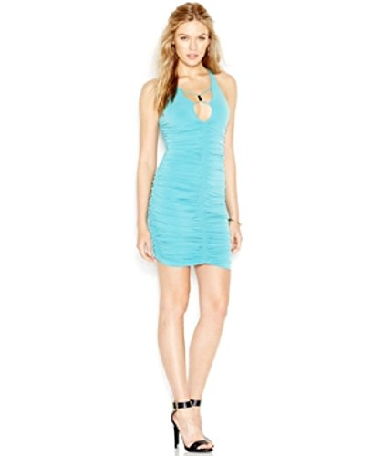 Guess Ruched Bodycon Party Dress Sultry Sea M