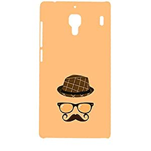 Skin4gadgets Hipster Pattern- Hat, Glasses, Mustache, Color - Light Salmon Phone Designer CASE for REDMI 1