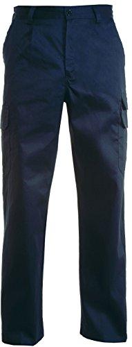 Pantalone da Lavoro Multitasche con Elastico e Passanti In Vita Payper Cargo, Colore: Navy, Taglia: XXXL