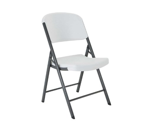Lifetime 22804 Classic Commercial Folding Chair, White Granite with Gray Frame