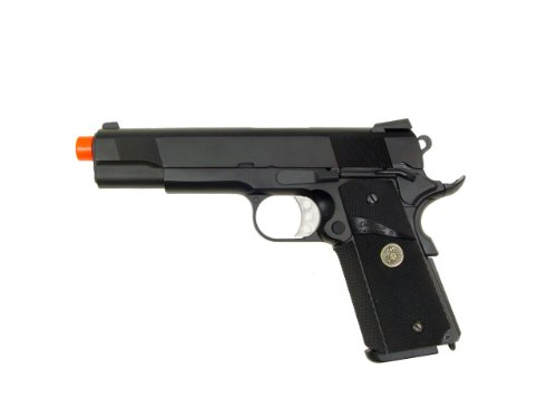 We Full Metal 1911 Meu Cqb Master Airsoft Gas Blowback Pistol Gun from WE