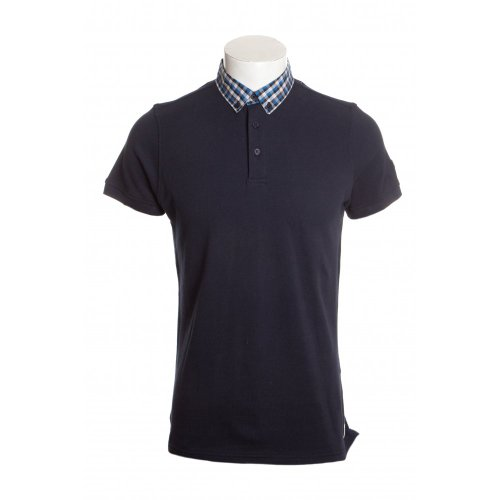 Weekend Offender mens category A ecuador short sleeve polo shirt in navy LGE