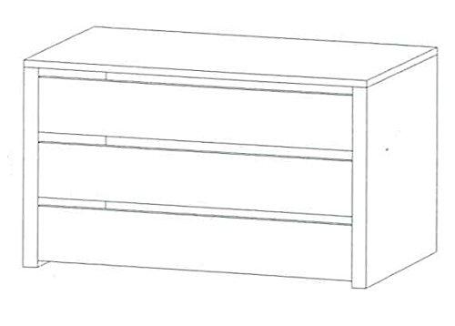 Cassettiera 3 cassetti per interno armadio modello Ginger - Bianca