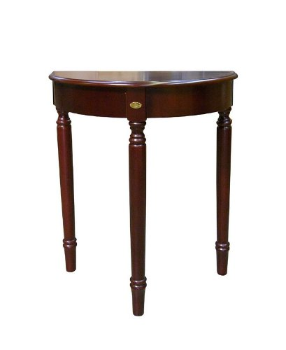 Cheap Crescent Console Sofa Table in Cherry Finish (VF_AZ00-40042×24608)