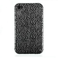 XiRRiX Premium Plastik Style Case für Apple iPhone 4, Farbe: schwarz / silber - Design: Gepard