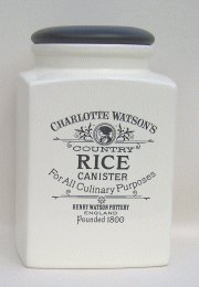 Charlotte Watson Square Large Rice Canister