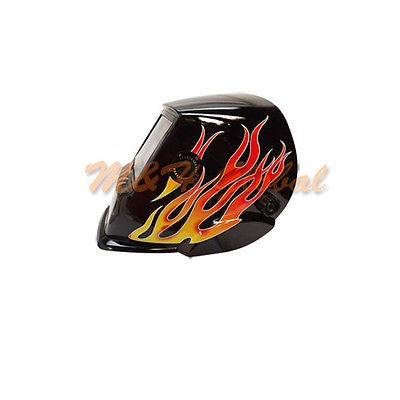 Solar-Auto-Darkening-Welding-Helmet-Black-Flame
