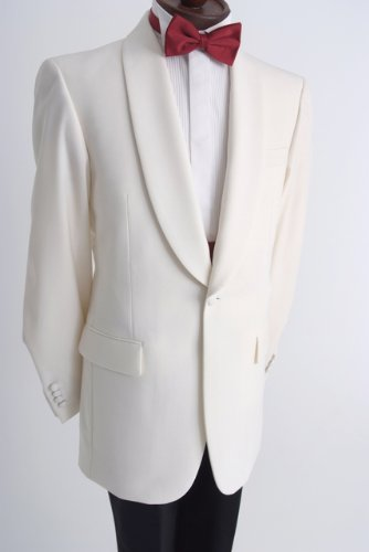 48R Mens White Dinner Tuxedo Jacket