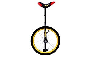 "Reflex Black Adult Unicycle 20"" Pneumatic Wheels"