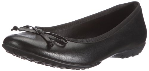 Clarks Arizona Heat Ballet Flats Womens Black Schwarz (Black Leather) Size: 3 (35.5 EU)