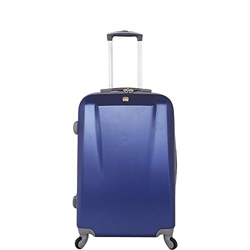SWISSGEAR Upright Hardside Spinner, Blue, 24